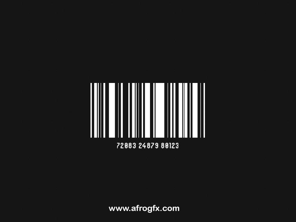 Barcode - Black - Free Psd
