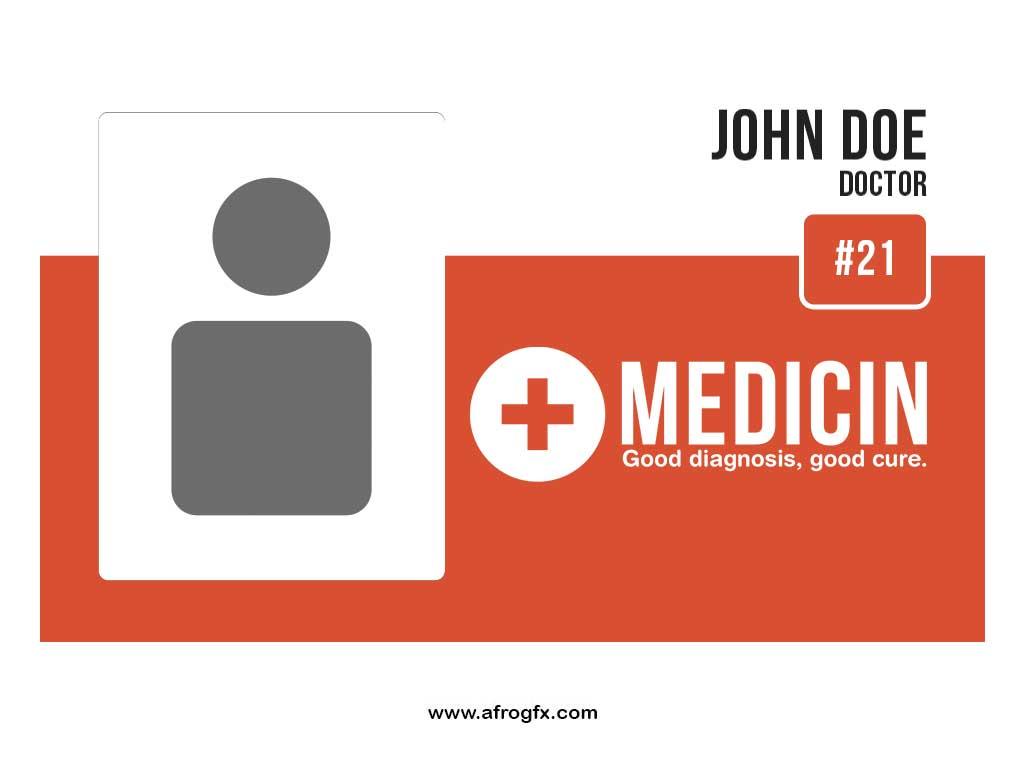 Medicin-staf-id-card