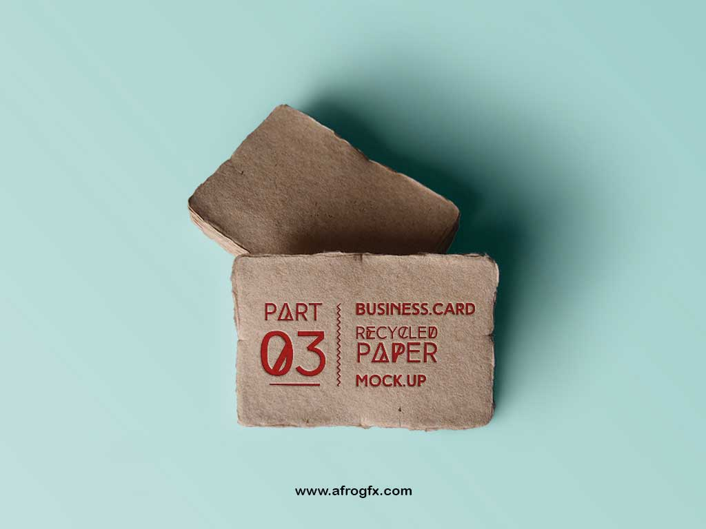 Recycled Paper Business Card Mock Up Part 3