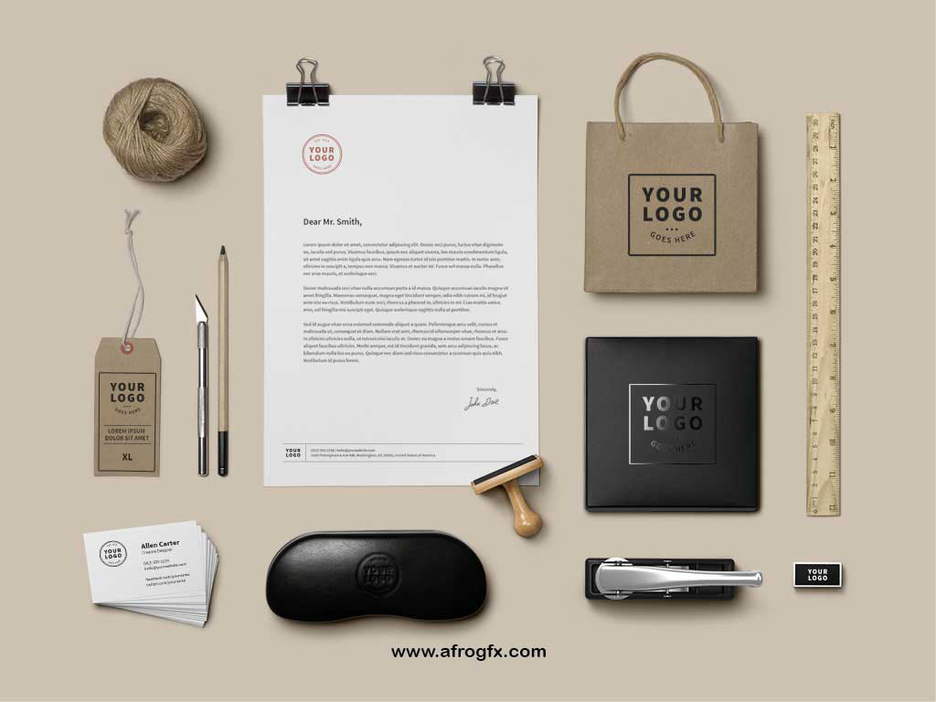 Branding Identity Mock-Up Vol9