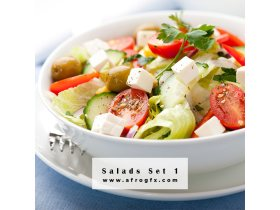 Delicious fresh salads 1 Stock Photo