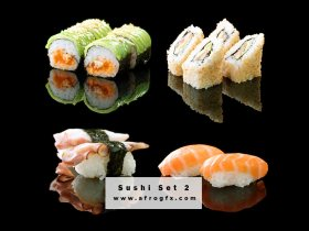 Appetizing Sushi Set 2 Stock Photo