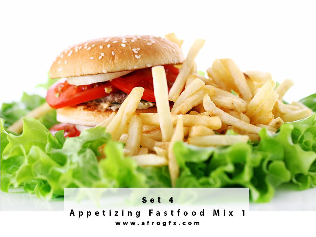 Appetizing Fastfood Mix 4 Stock Photo