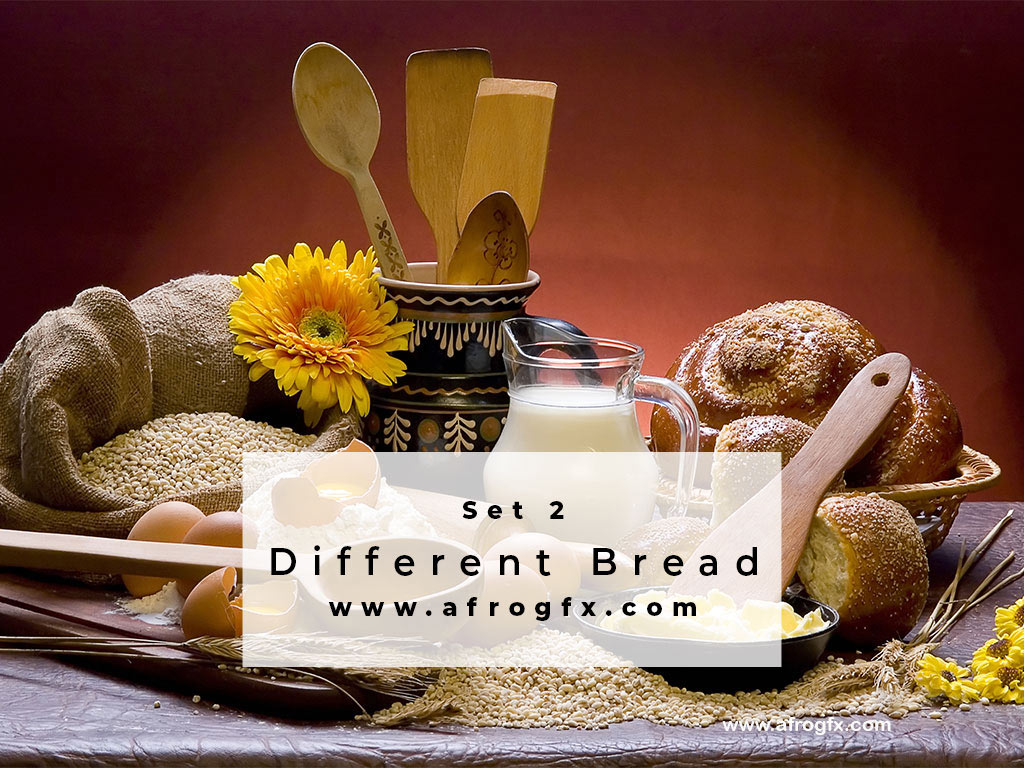 Different Bread Set 2 Stock Photo