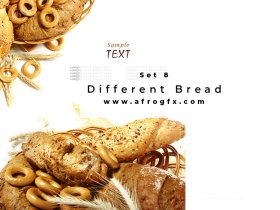 Different Bread Set 8 Stock Photo