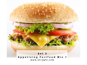 Appetizing Fastfood Mix 3 Stock Photo