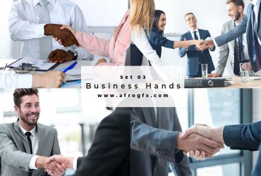 Business Hands Set 3 Stock Photo
