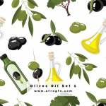 Olives Oil Set 1 Stock Photo