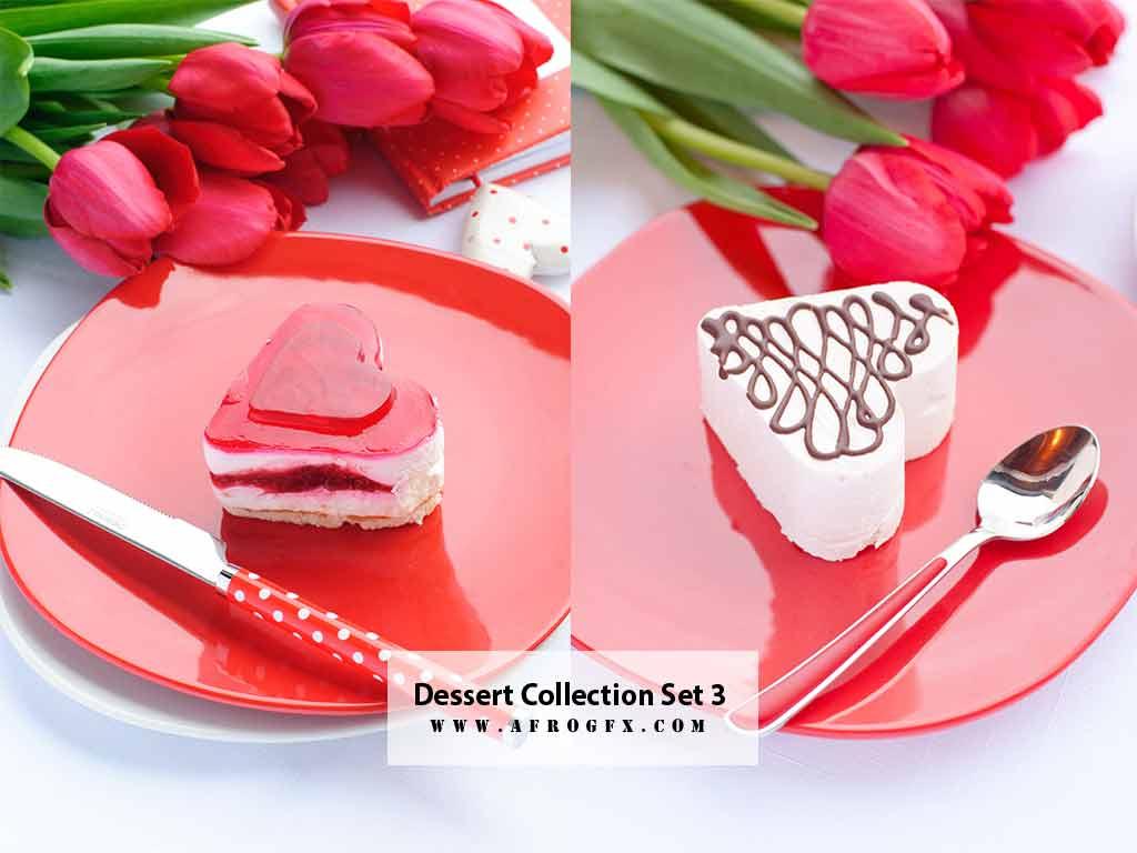 Dessert Collection Set 3 Stock Photo