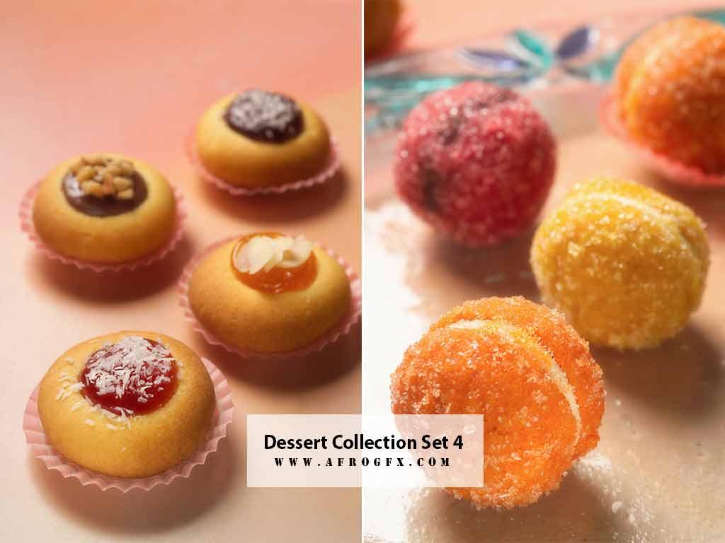 Dessert Collection Set 4 Stock Photo