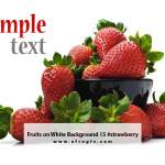 Fruits on White Background 15 #strawberry