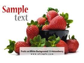 Fruits on White Background 15 #strawberry