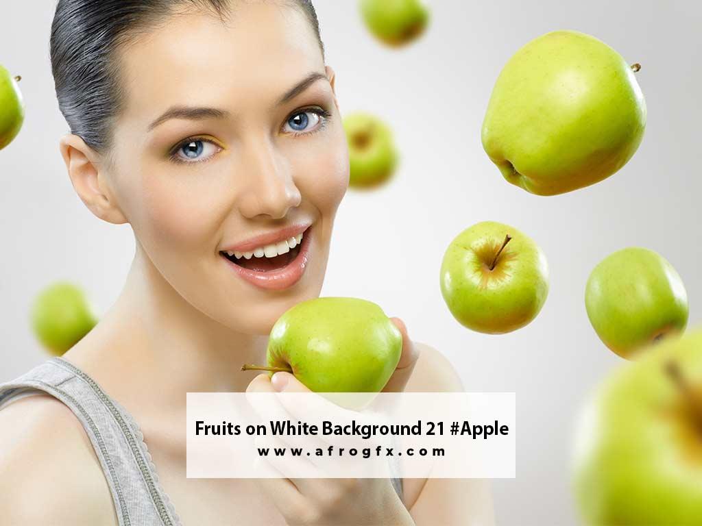 Fruits on White Background 21 #Apple