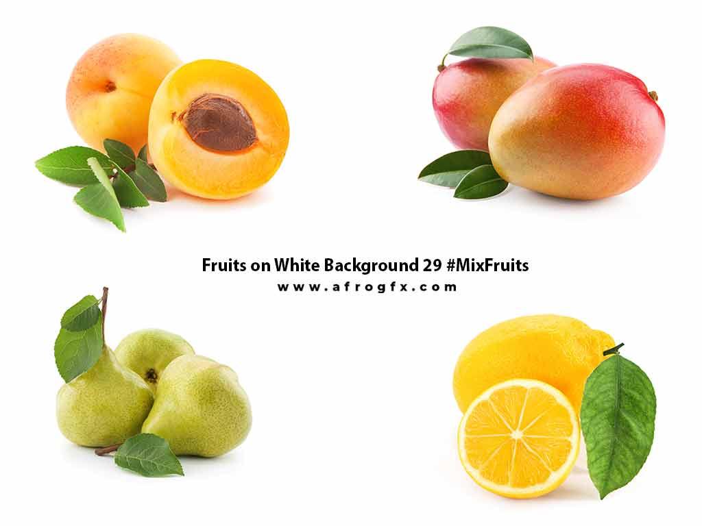 Fruits on White Background 29 #MixFruits