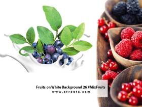Fruits on White Background 26 #MixFruits