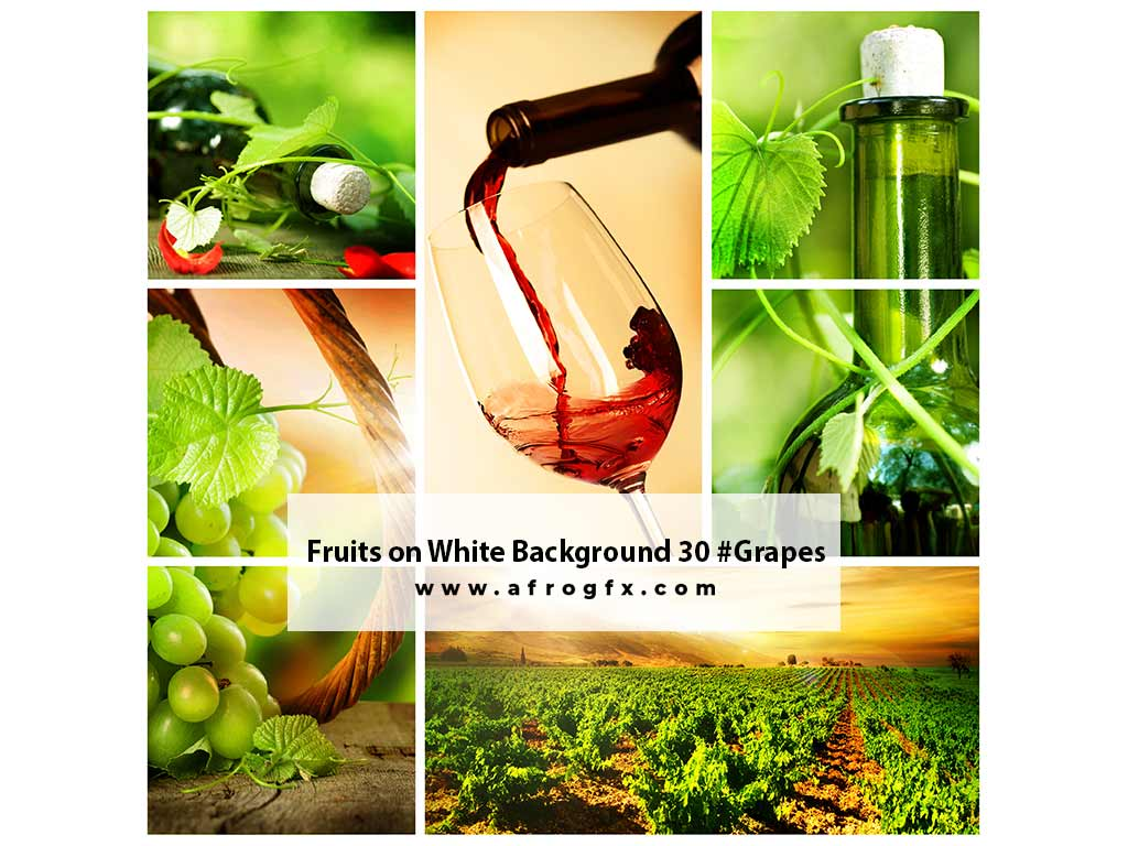 Fruits on White Background 30 #Grapes