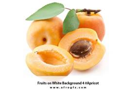 Fruits on White Background 4 #Apricot