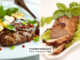 Fried Meat Steaks 4