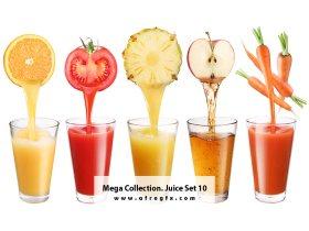 Mega Collection Juice 10 Stock Photo