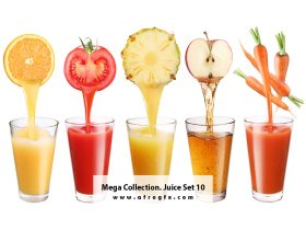 Mega Collection Juice 10 Stock Photo