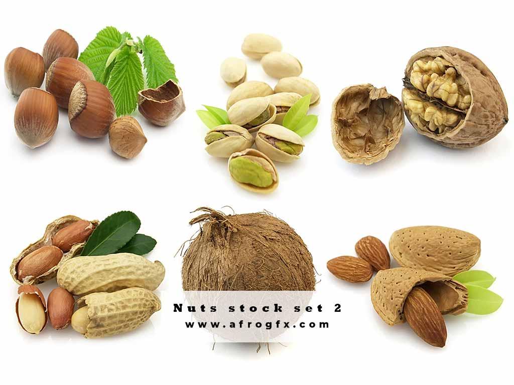 Nuts stock set 2 Stock Photo