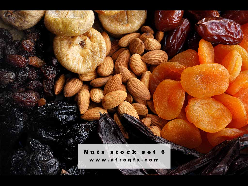 Nuts stock set 6 Stock Photo