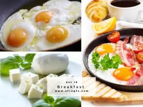 Breakfast Set 15 Stock Photo