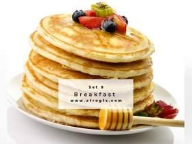Breakfast Set 8 Stock Photo