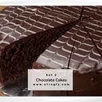 Chocolate Cakes Set 2 Stock Photo