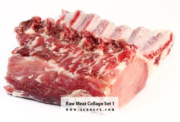 Raw Meat Collage Set 1