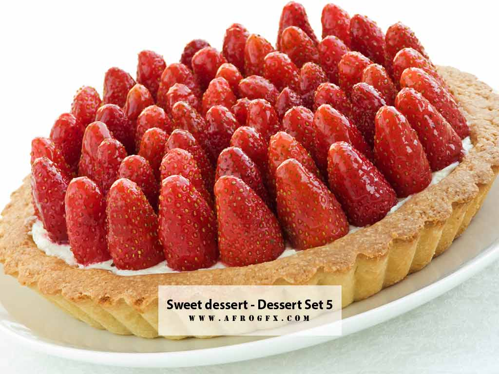 Sweet dessert - Dessert - Collection - Stock Photo
