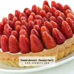 Sweet dessert - Dessert - Collection - Stock Photo