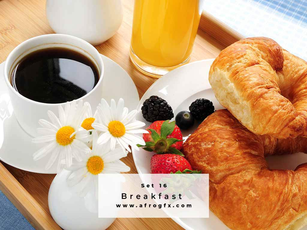 Breakfast Set 16 Stock Photo