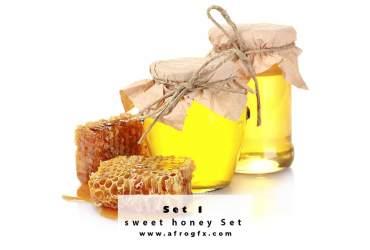 Photo stock - sweet honey Set 1 Stock Photo