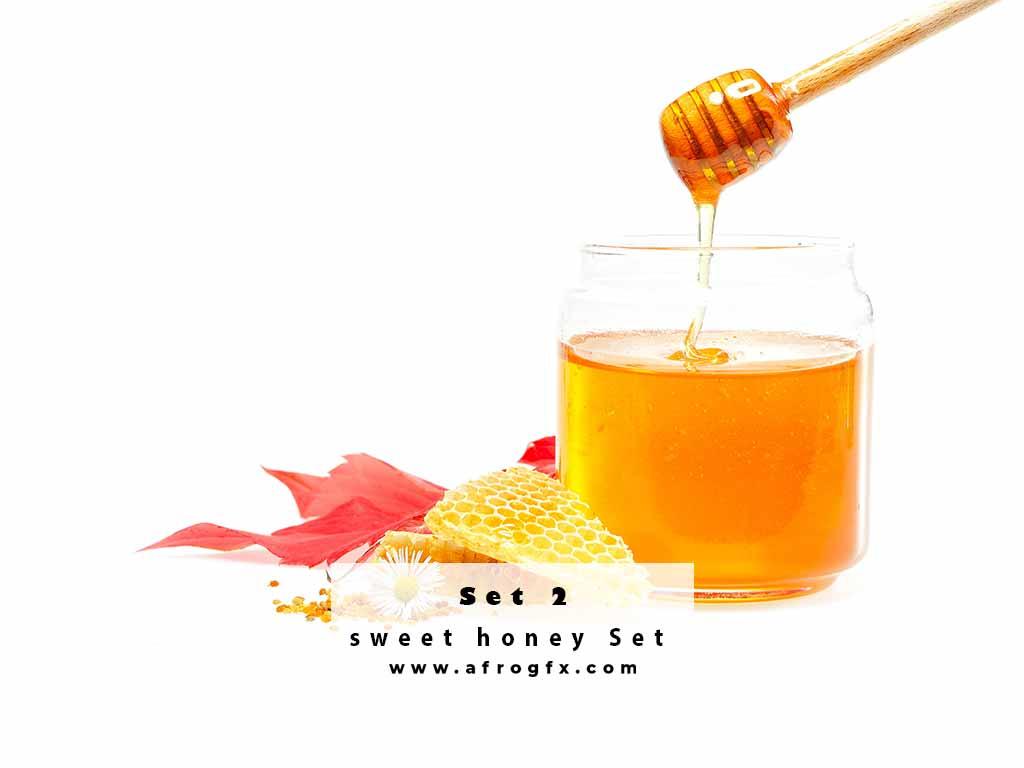 Photo stock - sweet honey Set 2 Stock Photo