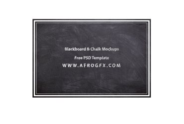 Blackboard & Chalk Mockups Free PSD Template