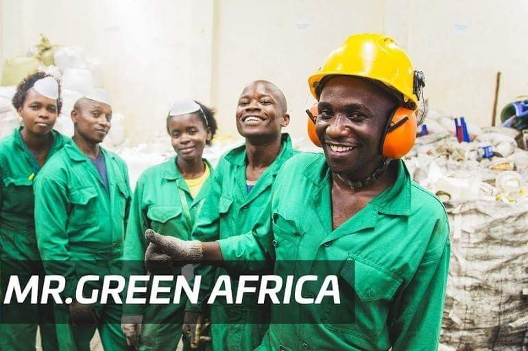 Happy workers of Mr Green Africa