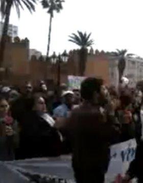 Las protestas de hoy en Rabat han sido pacíficas