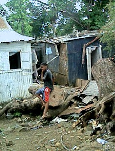 A Chagossian slum in Port Louis, Mauritius