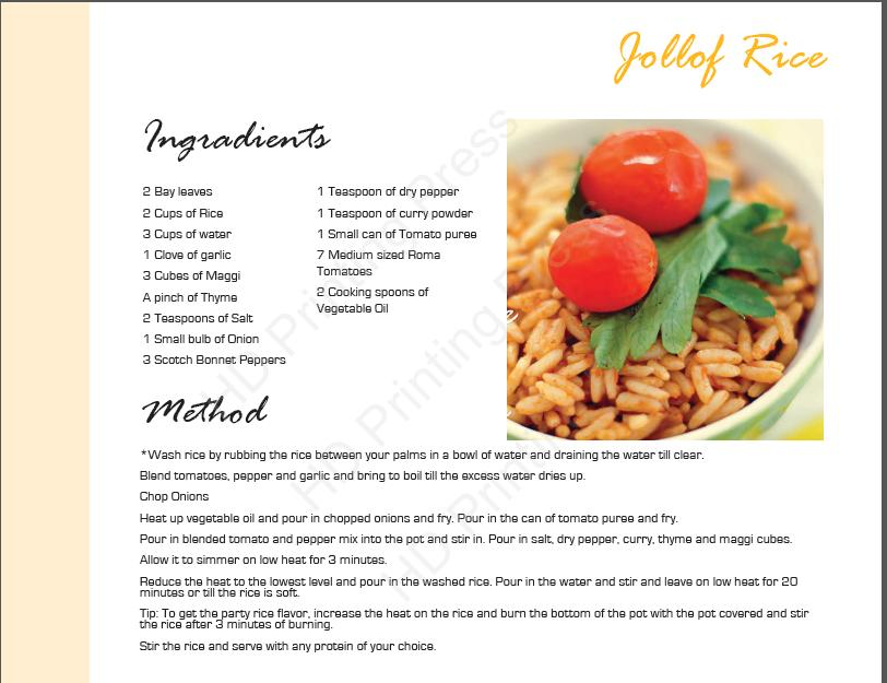 jollof rice recipe card - Afrolems Nigerian Food Blog
