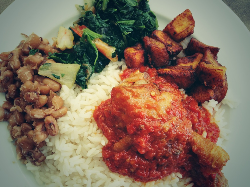 Nigerian Rice And Stew Classic Vintage Nigerian Meal Afrolems Nigerian Food Blog