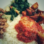 Nigerian Rice and Stew (Classic Vintage Nigerian Meal)