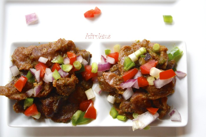 Nigerian peppered gizzard