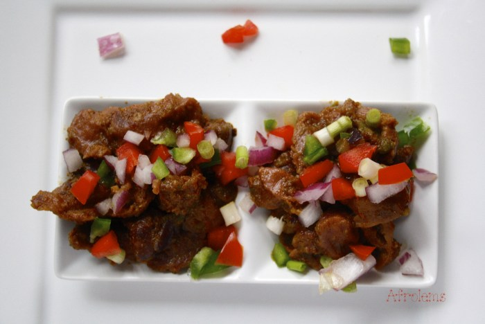 Spicy peppered gizzard