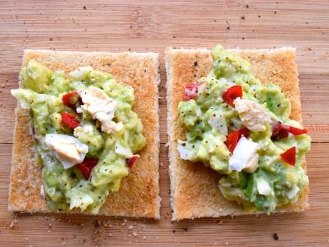 avocado egg salad on bread