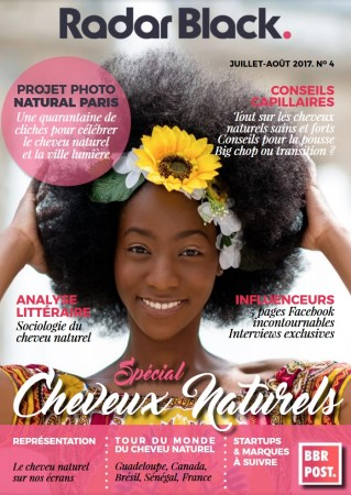 Couverture-magazine-radar-black-numero-4-special-cheveux-naturel-interview-afrolifedechacha-page82-83