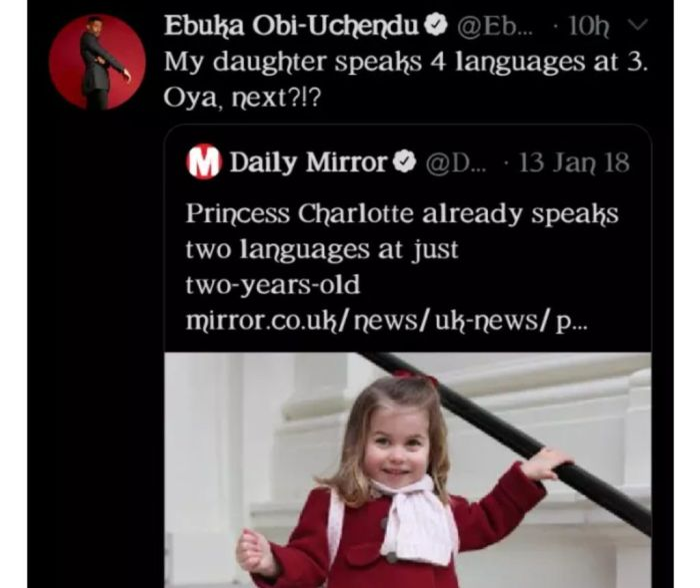 "AUG 26, 2020 ""My 3-year-old daughter speaks 4 languages"" – Ebuka Obi-Uchendu brags"