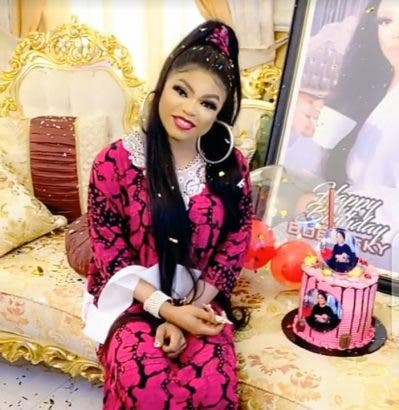 Bobrisky's househelp gives him a surprise on his 28th birthday party