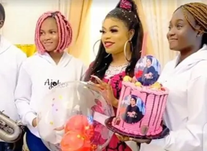 Bobrisky's househelp gives him a surprise on his 28th birthday