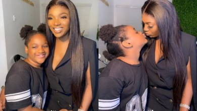 'My baby is the strongest and bravest' – Annie Idibia brags about 6 year old Olivia